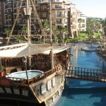 The Villa del Palmar is easily recognized as the resort with the ship.